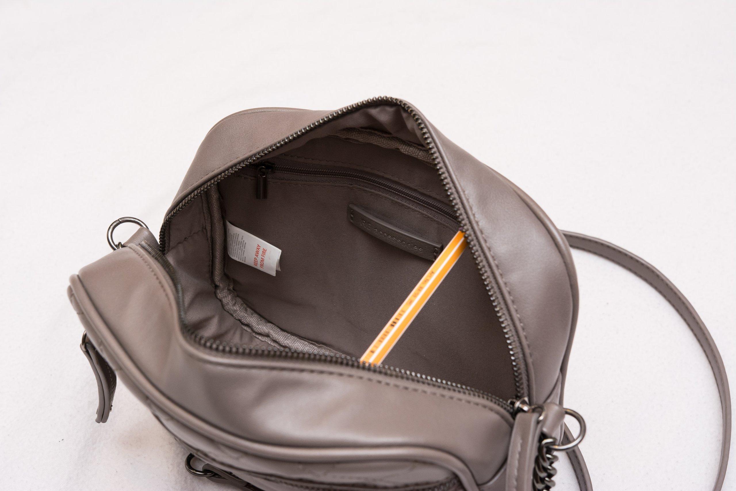 6b7ad93a16826 Mała pikowana torebka RESERVED z łańcuszkiem szara - 7145887699 ...