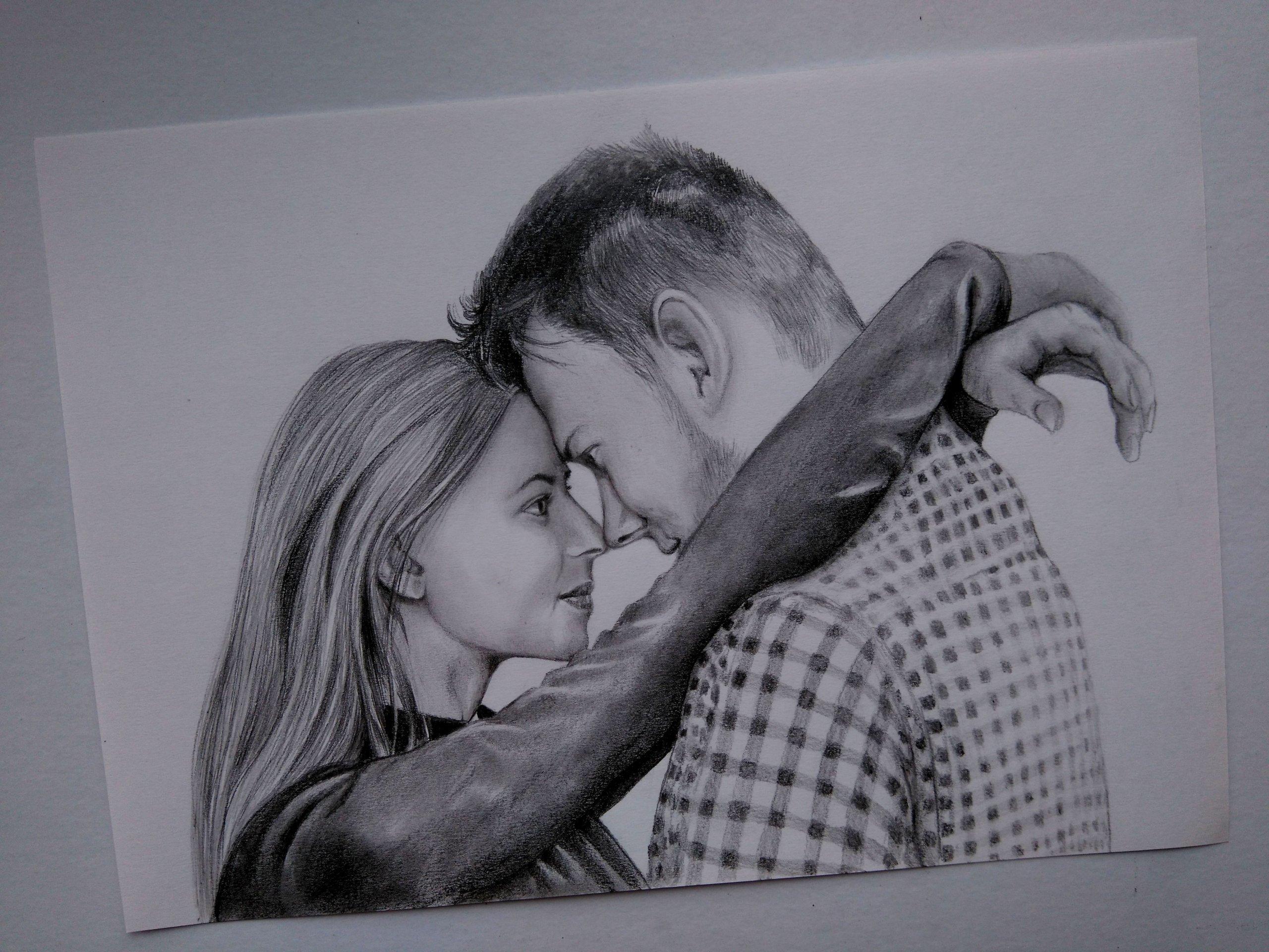 Portret Szkic Ołówkiem Na Podstawie Zdjęcia A4a3 7212557357