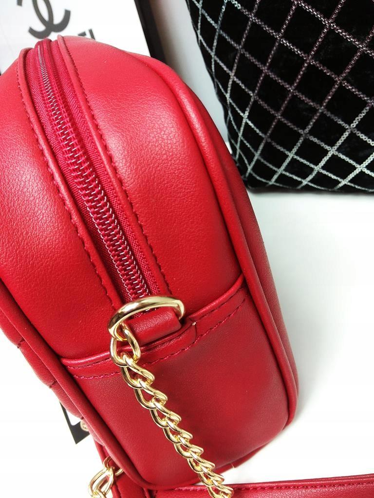 c6cd50fe4a18e Czerwona torebka listonoszka kuferek Monnari - 7640239351 ...