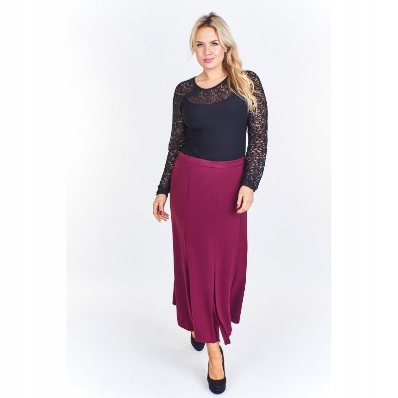 75ae3ba6 Długa spódnica z plisami Bordowy 62 - 7458757121 - oficjalne ...
