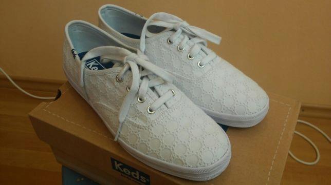 e2278482e198f Nowe białe, ażurowe buty, trampki firmy Keds rozm - 7364639507 ...