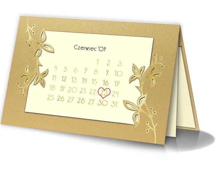Zaproszenia ślubne W Formie Kalendarza 929sz 7088383092