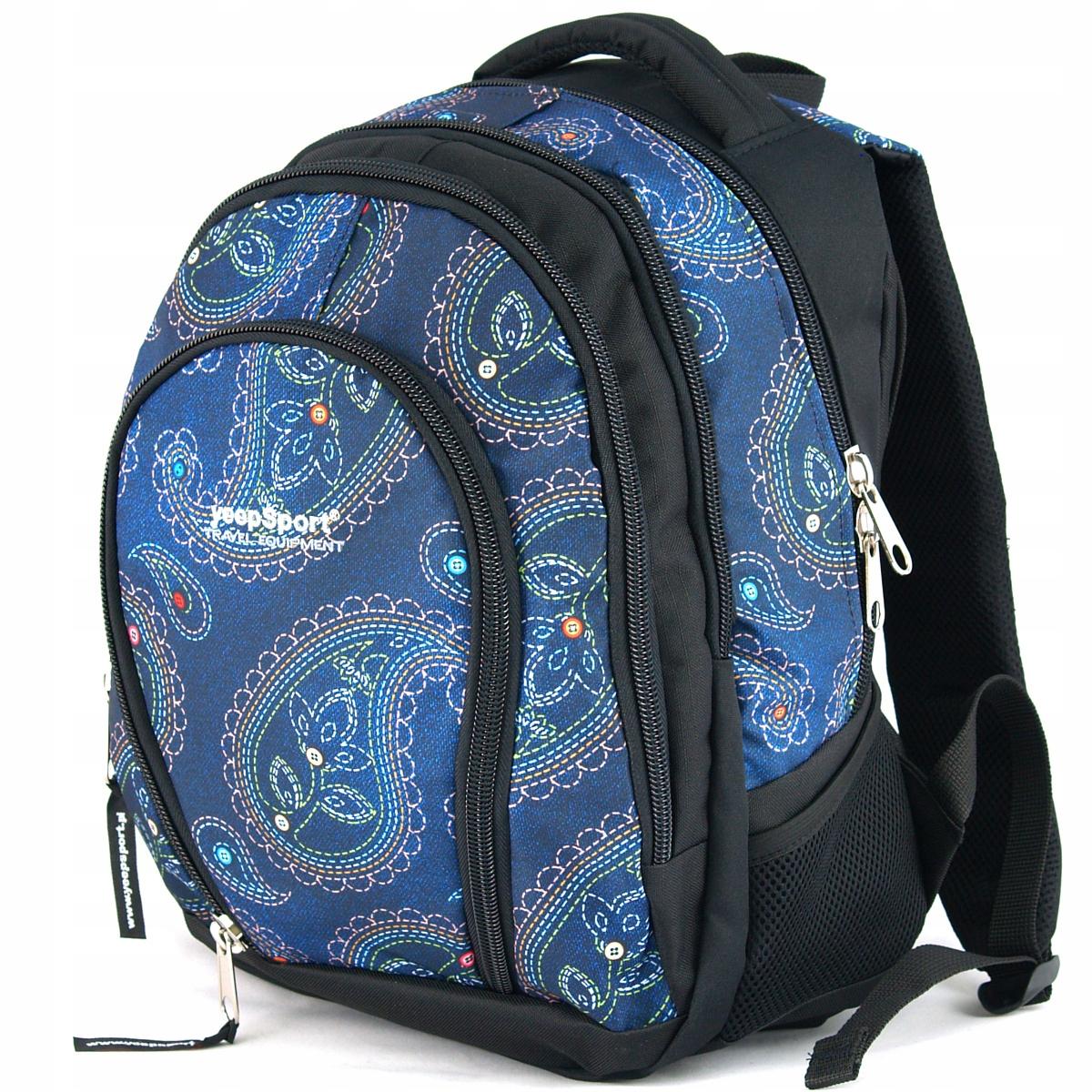 850ad236bee02 Plecak szkolny 4-komorowy yeepSport S113dx jeans h - 7238121840 ...