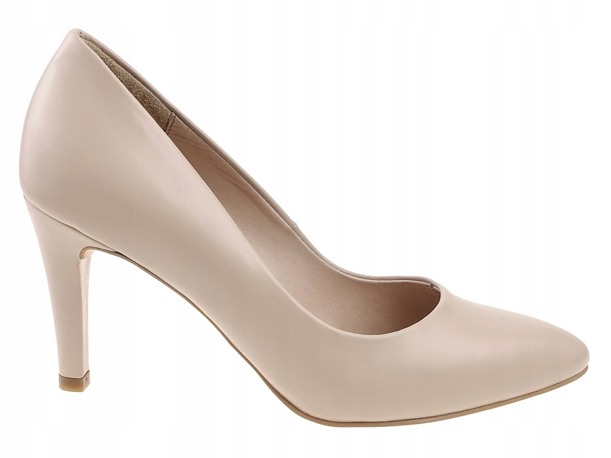 53f8db79 11% RYŁKO buty czółenka 8G200N beż, skóra 40.5 - 7134675876 ...
