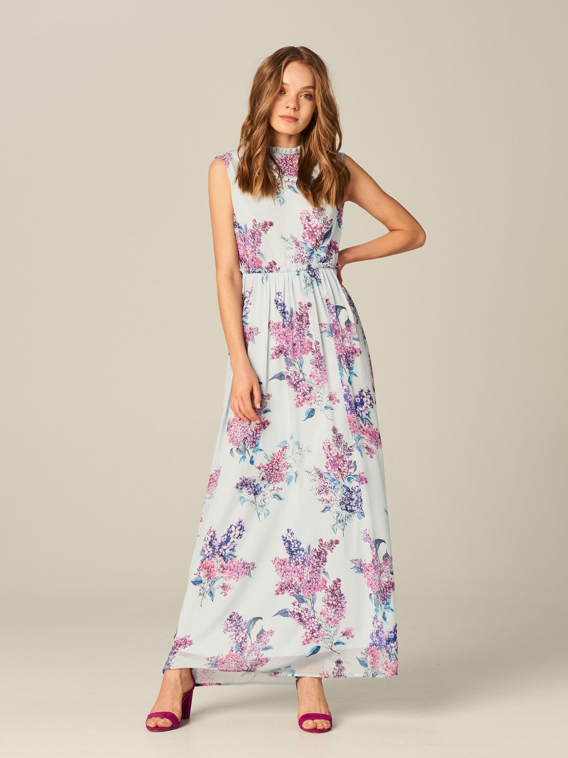 79f9cd92c6 MOHITO Szyfonowa sukienka maxi w kwiaty - 34 - 7416399633 ...