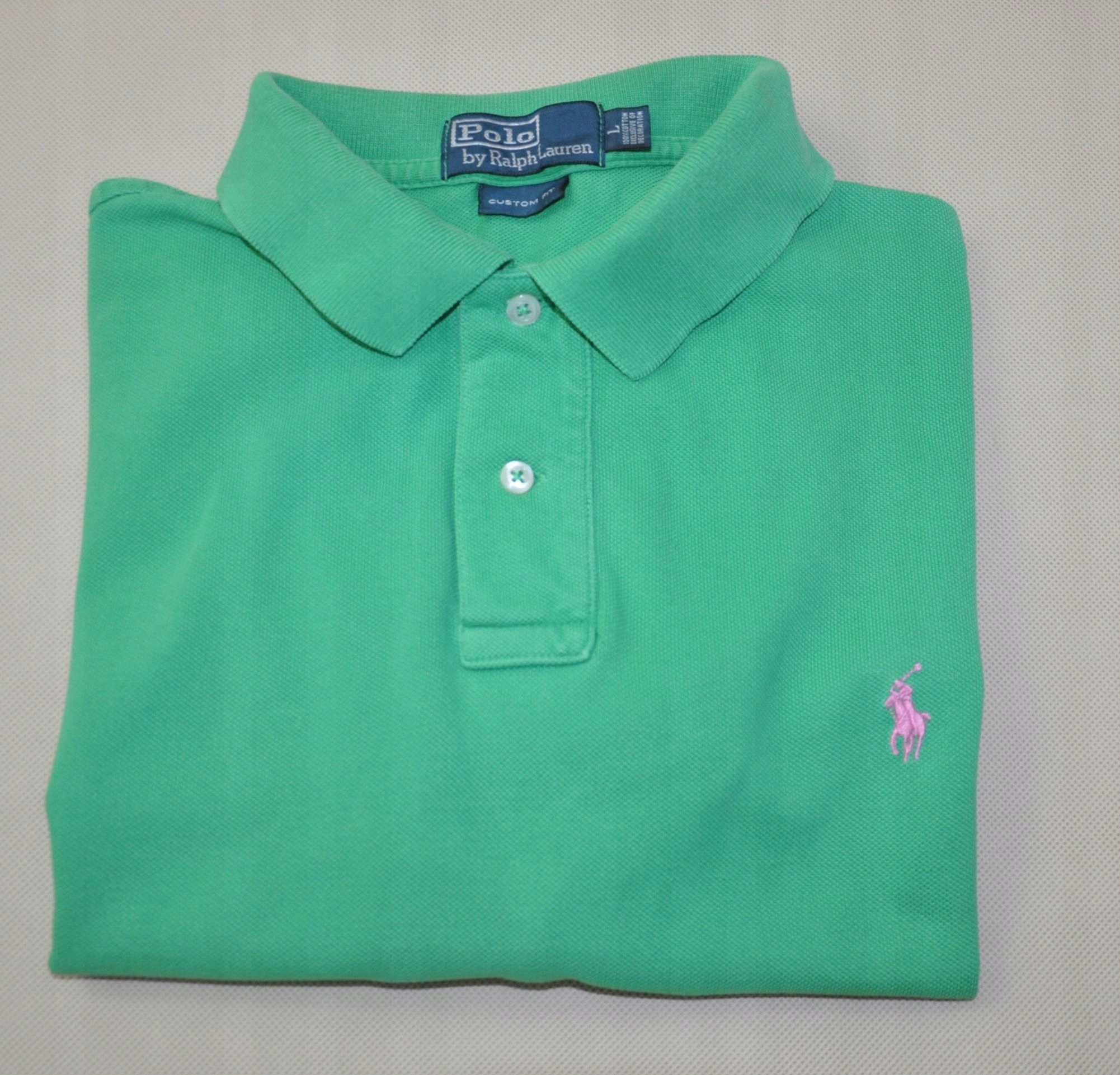 03c41c333 POLO RALPH LAUREN koszulka męska polo zielona L - 7597085515 ...