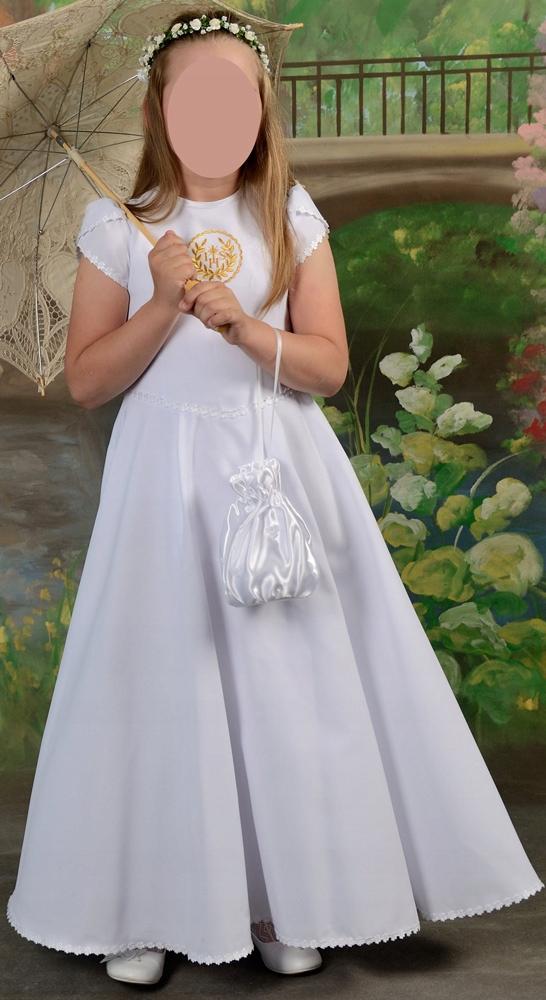 3700dcca72 Komplet alba   sukienka komunia r. 134 z dodatkam - 7642157288 ...