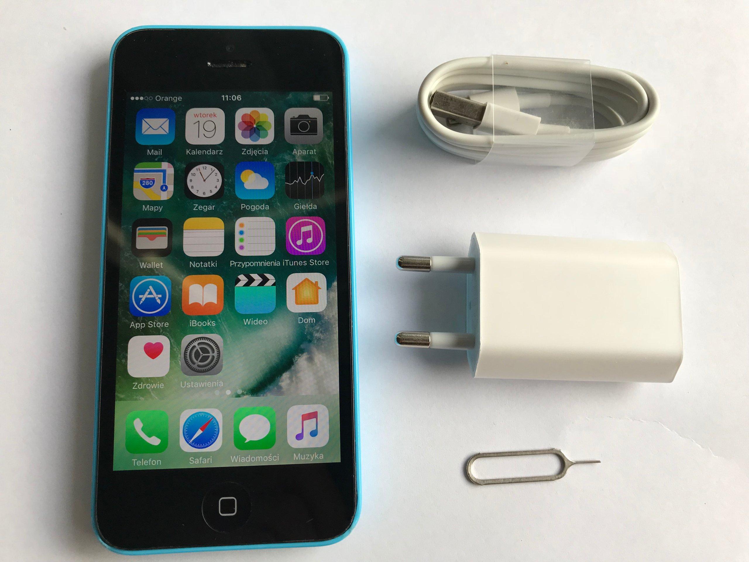 Iphone 5c 8gb Niebieski Bardzo Adny 7412650204 Oficjalne