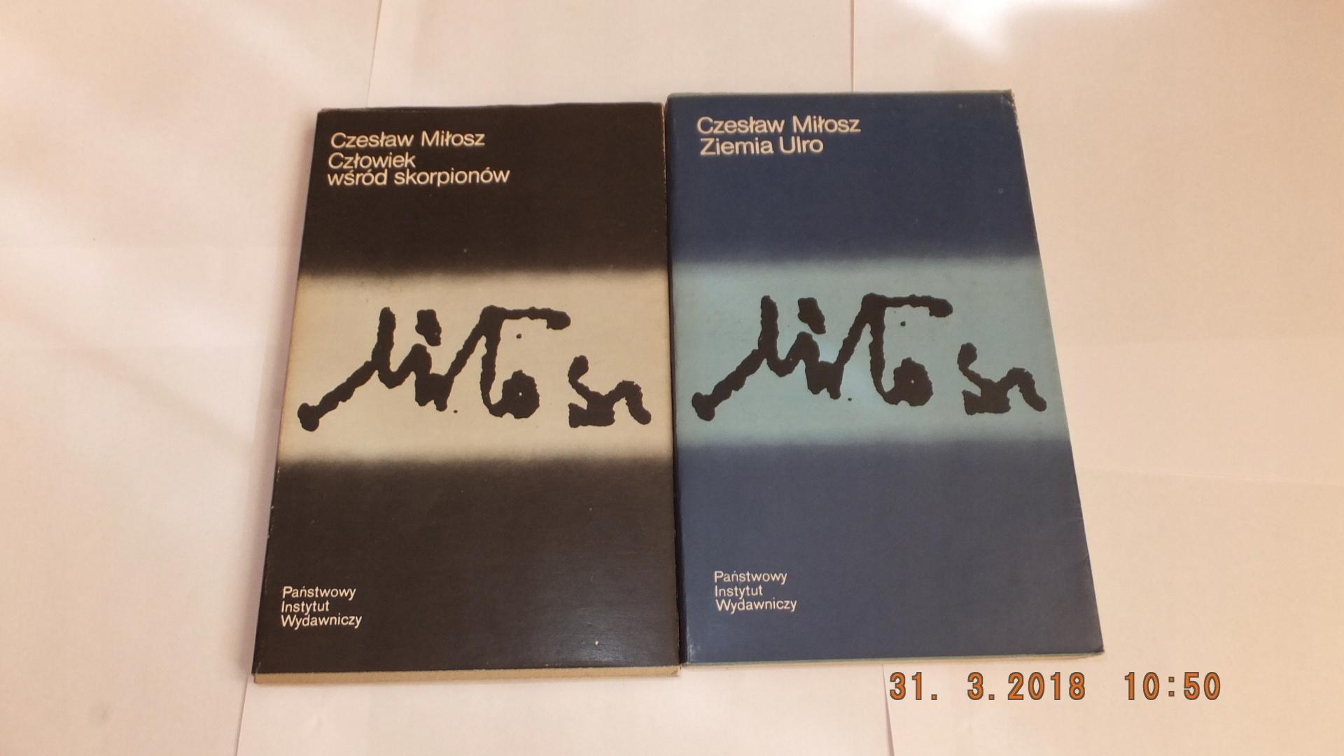 Czesław Milosz Zestaw 4 Książek Poezje 7244216871