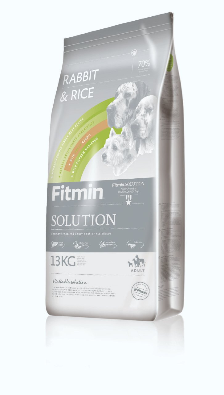 Fitmin Solution Rabbit & Rice 13kg hypoalergic