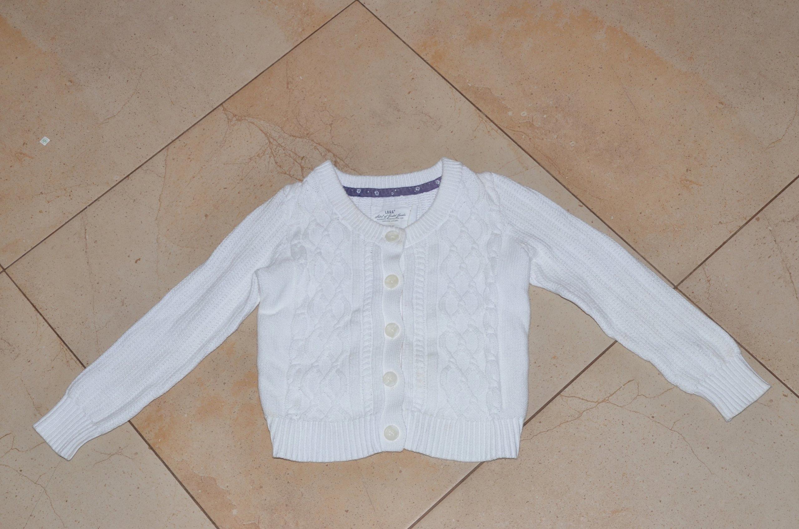 5ead264abe Biały sweterek dla dziewczynki H M 122 128 - 7318932192 - oficjalne ...