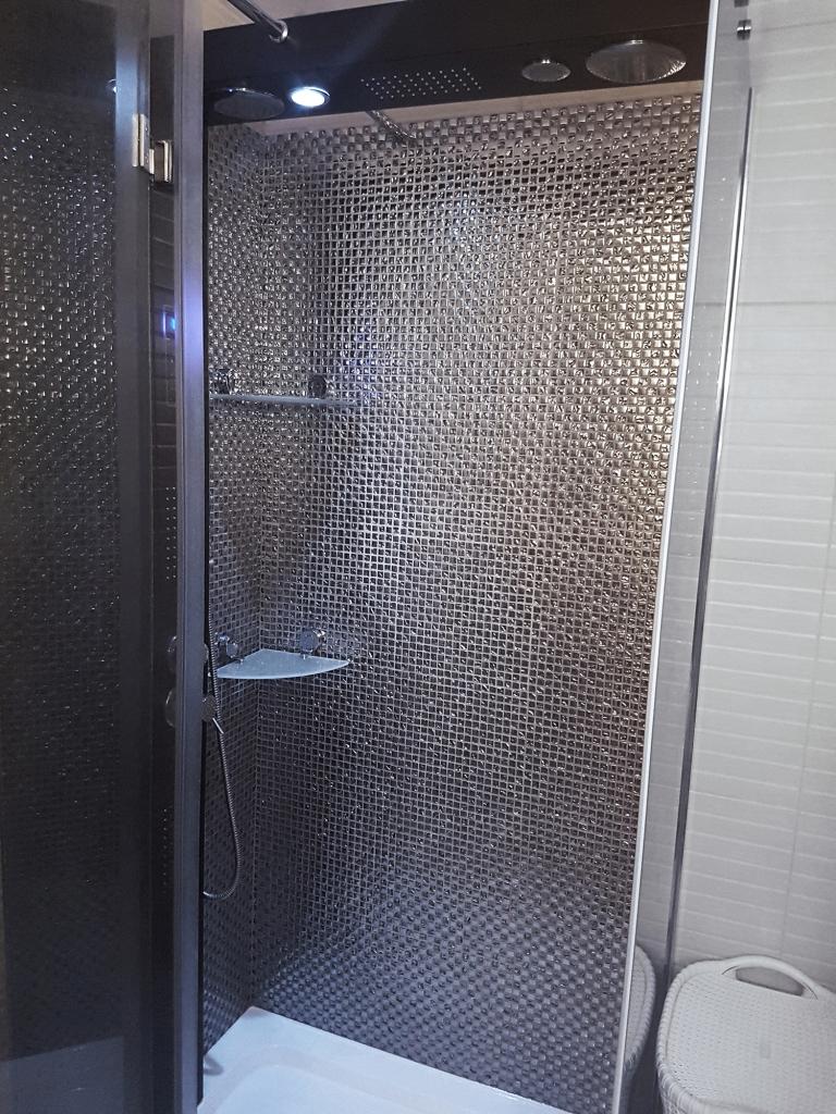Mozaika Szklana Srebrna Mix 1 Do Kuchni łazienki