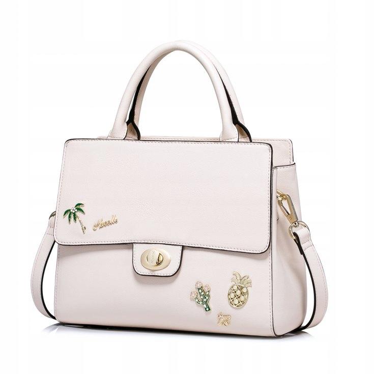 62e4583a439fb Mała damska torebka kuferek na ramię różowa - 7507557121 - oficjalne ...