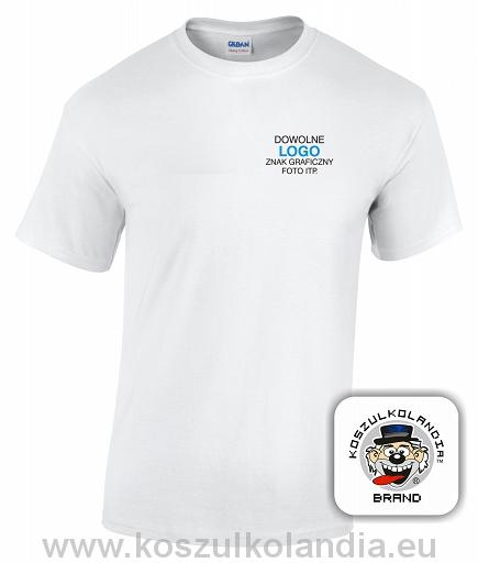 248bdde06 50 szt. KOSZULKI z własnym nadrukiem t-shirt LOGO - 7643389205 ...
