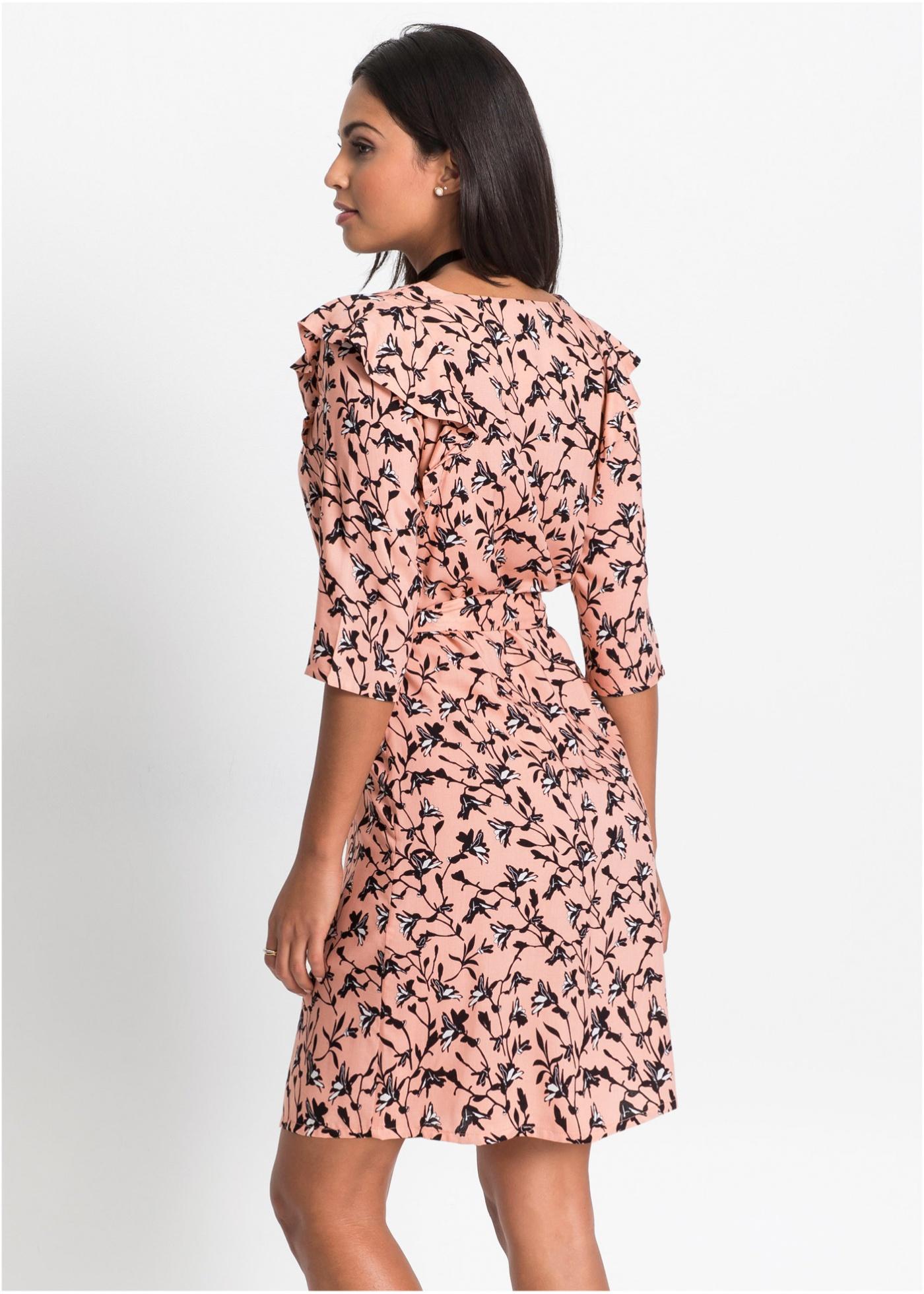 5ab6a5e0ad BONPRIX Sukienka z nadrukiem rozm. 36 BODYFLIRT - 7541254639 ...
