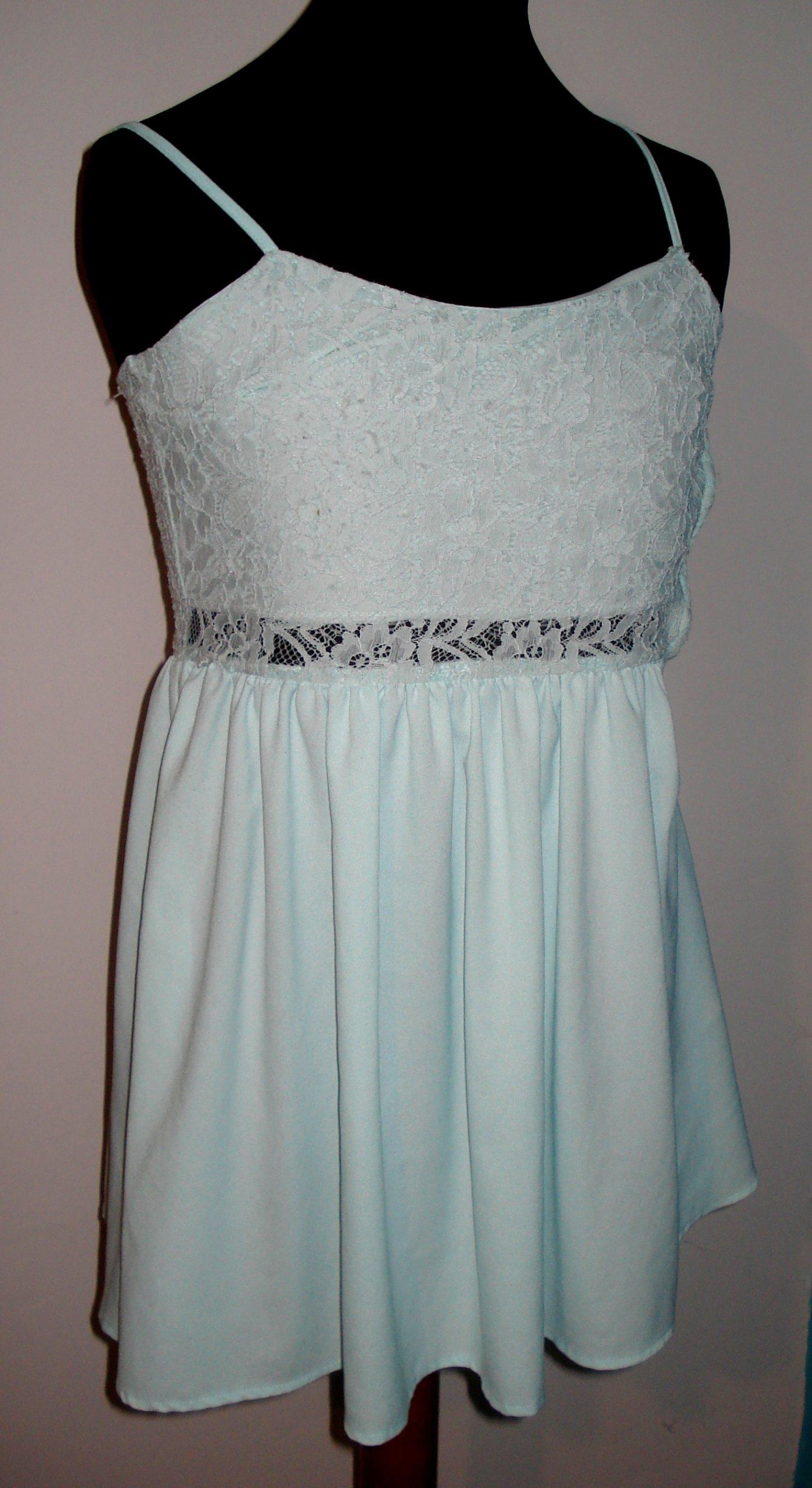 cb8ddd7c39 H M błękitna sukienka 36 - 7123180176 - oficjalne archiwum allegro