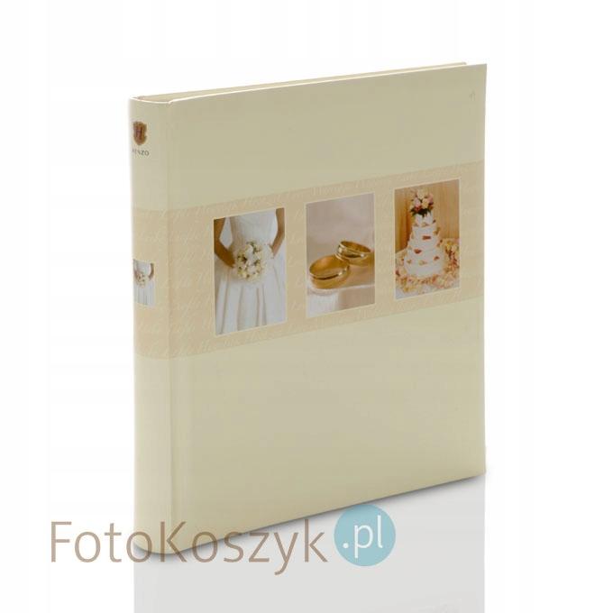 Album Kremowy 60 białych stron na zdjęcia wklejane