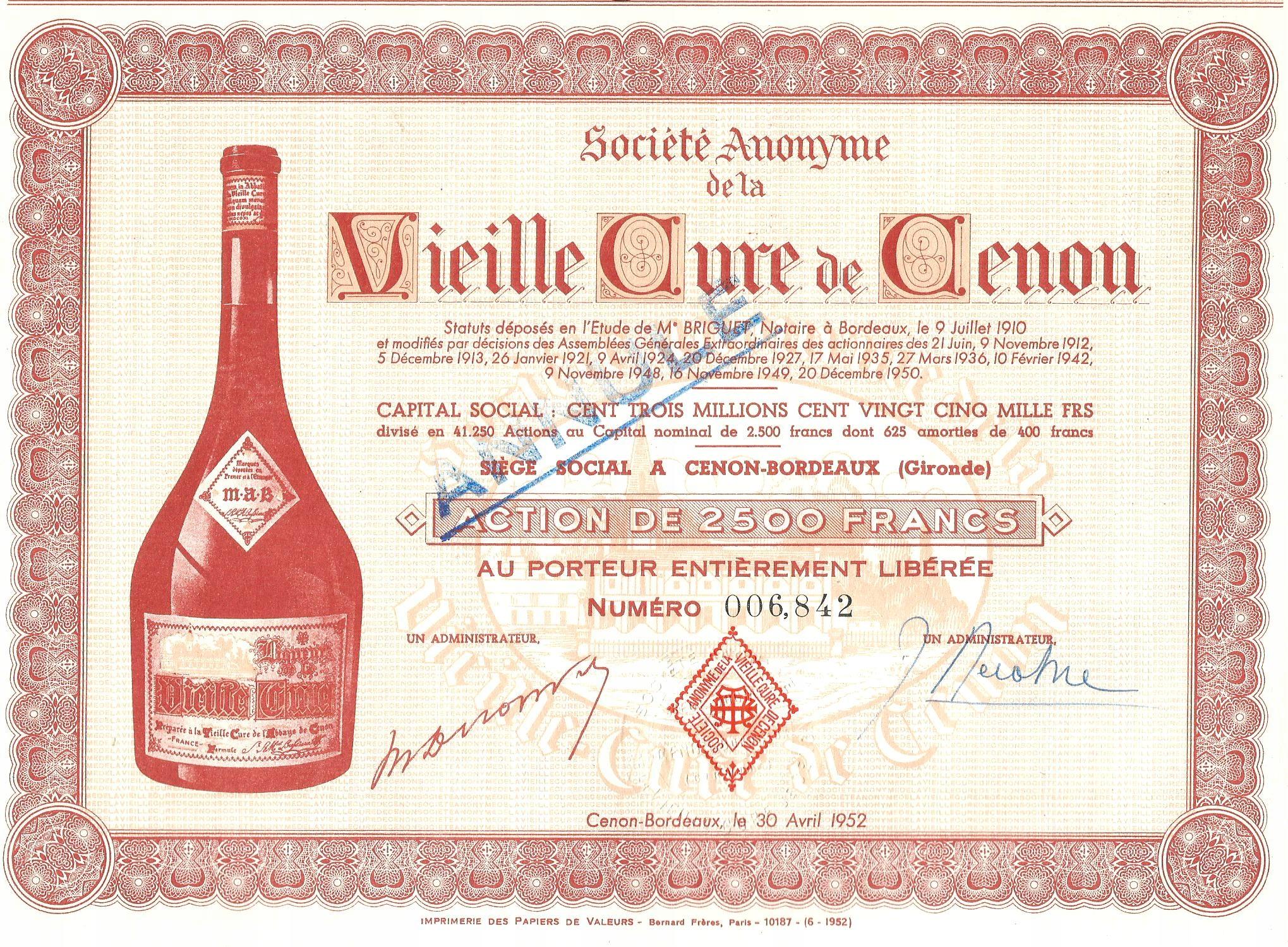 !WINO BORDEAUX! VIEILLE CURE DE CENON! S. DEKO!