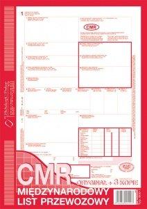CMR A4 1+3 kopie, list przewozowy 80 kartek