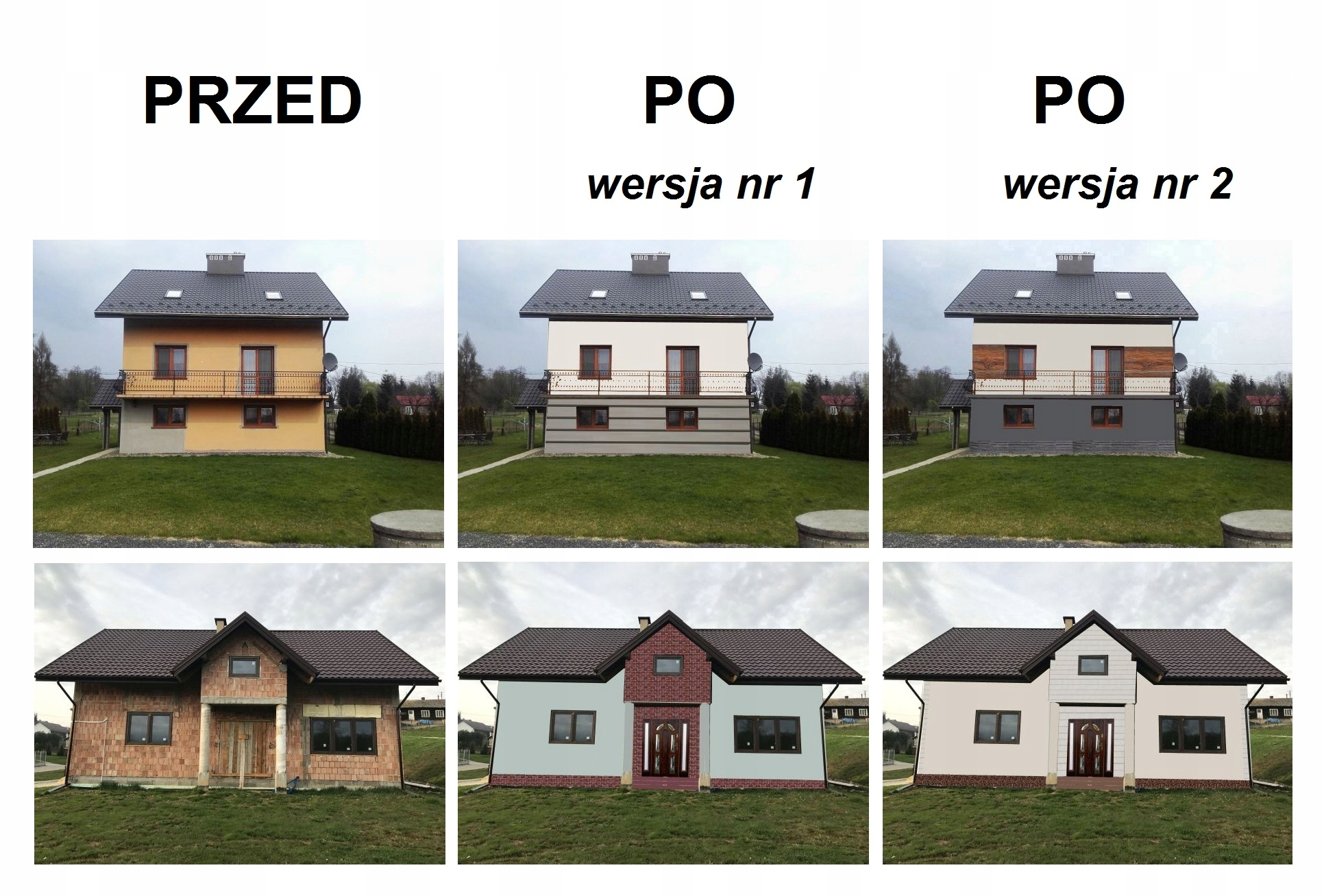 Projekt Zmiany Elewacji Domu 2 Koncepcje Okazja 7450440404