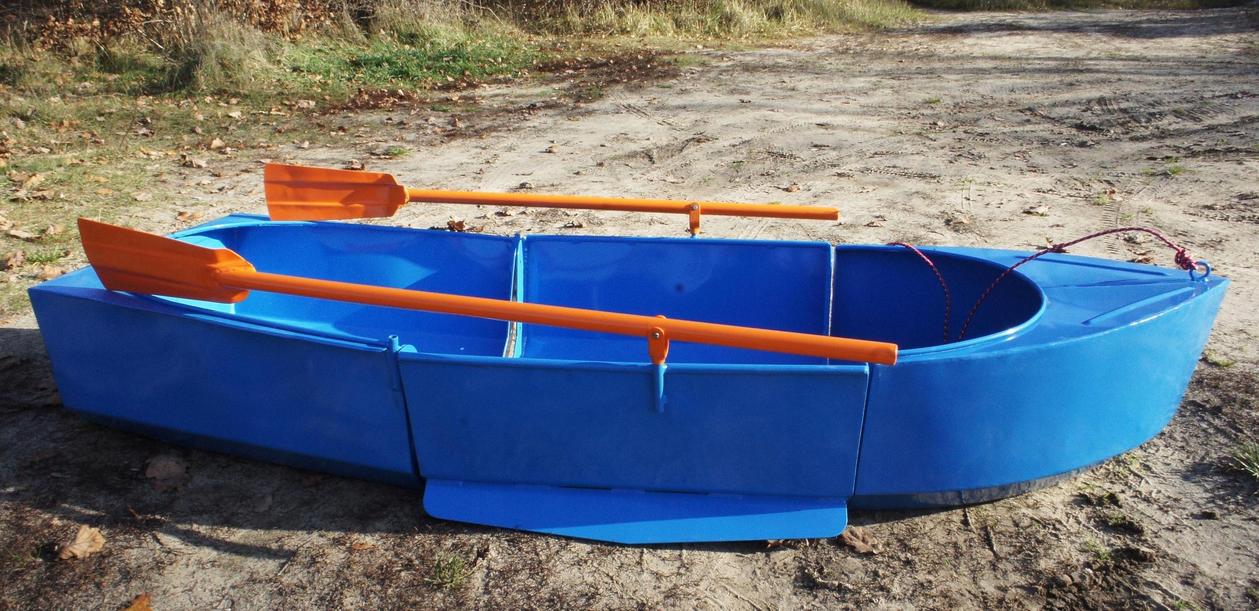 łódka wędkarska składana aluminiowa