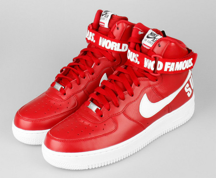 NIKE Air Force One High SUPREME 698696 610 roz. 44