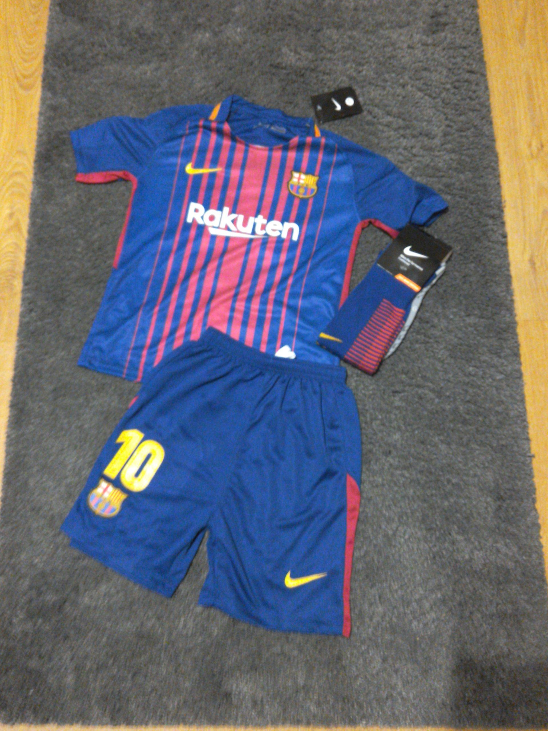a1d126a34 Strój piłkarski Fc Barcelona Messi 17/18 roz.24 - 7194210907 ...