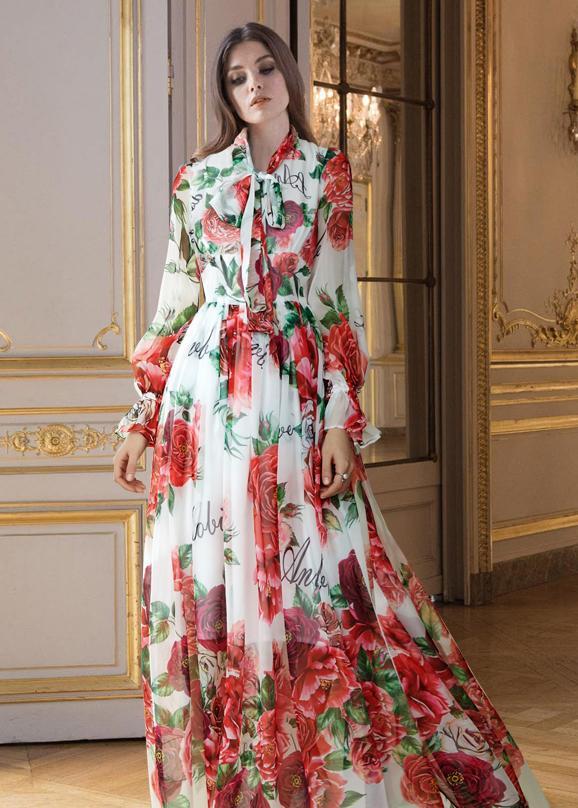 a0790b4ed8 Koktajlowa sukienka maxi kwiaty ITALY rozmiary - 7184678597 ...