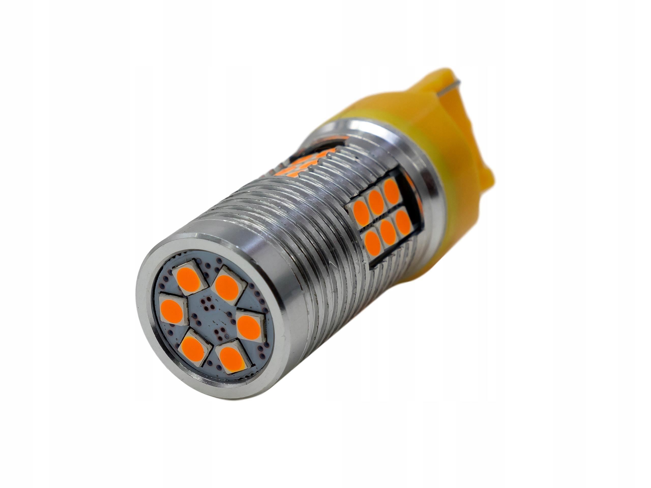 Żarówka LED wy21w w21w T20 7440 pomarańczowa 30 W