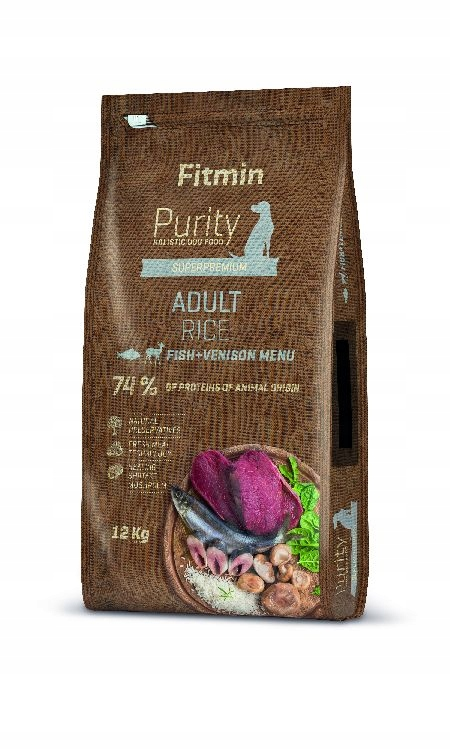 FITMIN PURITY ADULT FISH VENISON 12KG