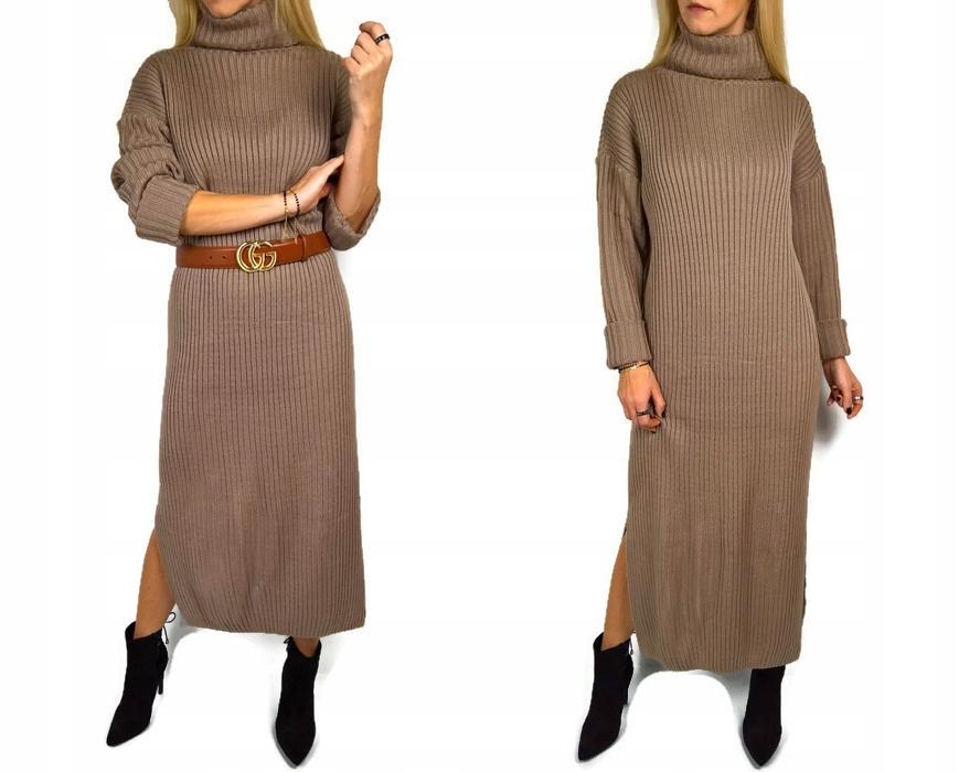 b058f0efaa Dluga Sweterkowa Sukienka Camel - 7700470316 - oficjalne archiwum ...