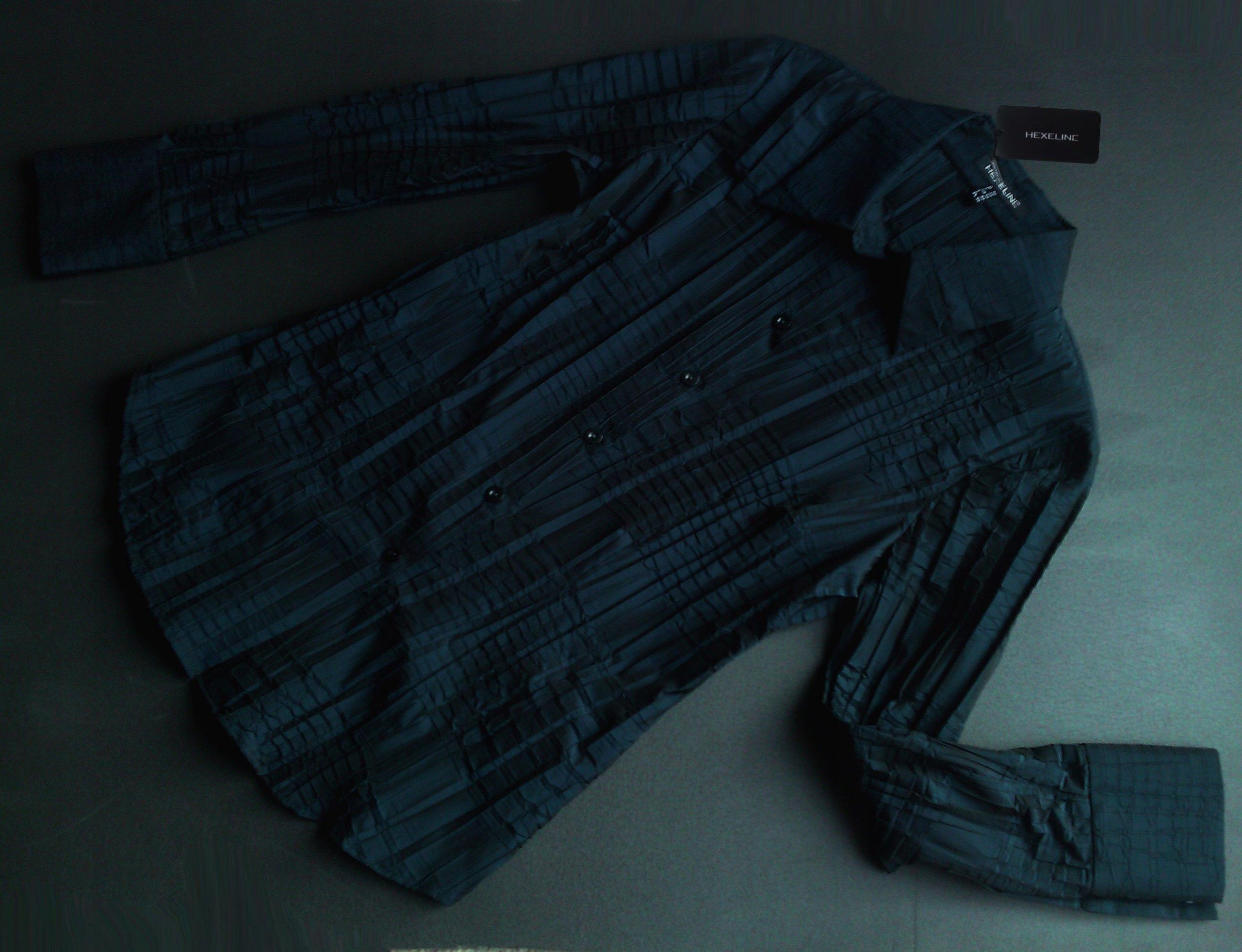 6310af39796c81 Hexeline 36 elegancka koszula niebieska gnieciona - 7507205784 ...