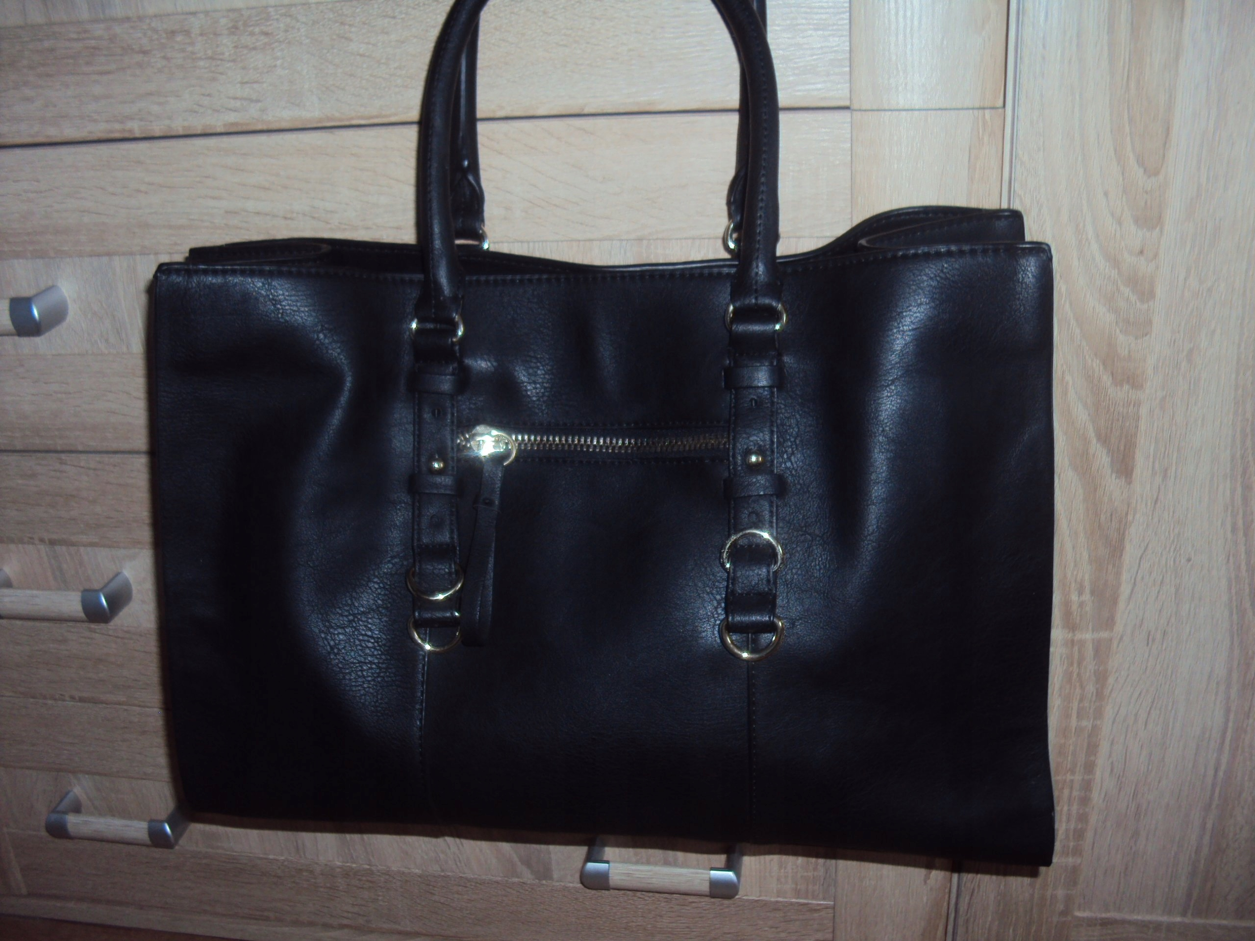 5804b18232a2e ZARA BASIC**shopper bag** J.N. czarna - 7587723933 - oficjalne ...
