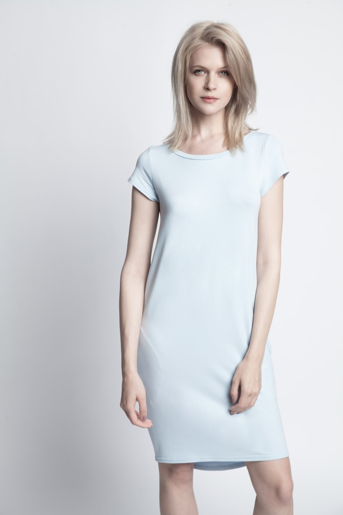 Sukienka ECHO KIMI 2-15817-116065-170140 niebieski L
