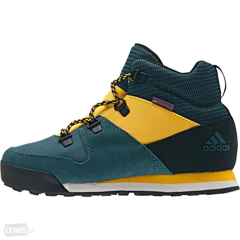 Buty trekkingowe Trekkingi adidas Cw Snowpitch K AQ6567 TecgrnCblackSogold Ceny i opinie Ceneo.pl