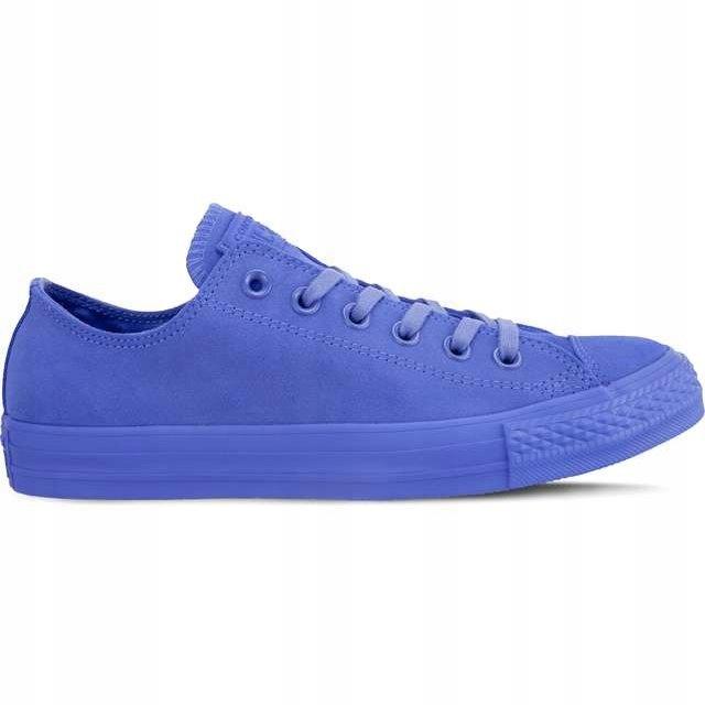 Niebieskie Zamszowe Buty Trampki Converse r.37,5