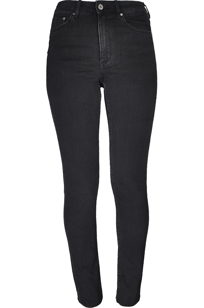 H&M Czarne Spodnie Wysoki Stan XS 34 2530