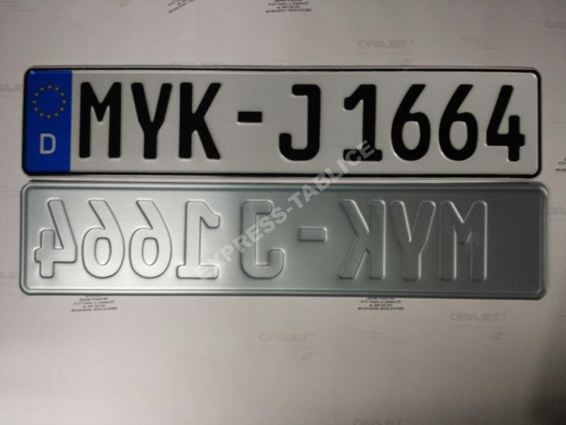 Niemieckie Tablice Tloczone Zamow Do 16 30 Katowic 7008903073 Oficjalne Archiwum Allegro