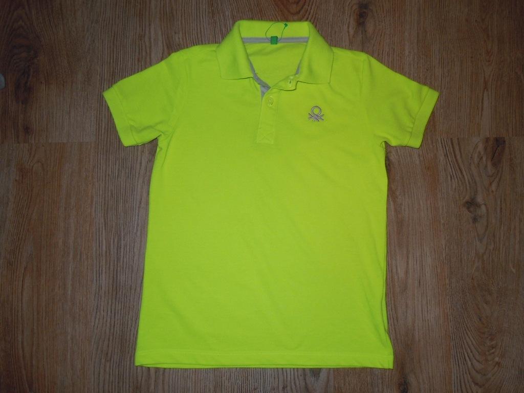 BENETTON koszulka polo 8-9 lat NOWA mięciutka