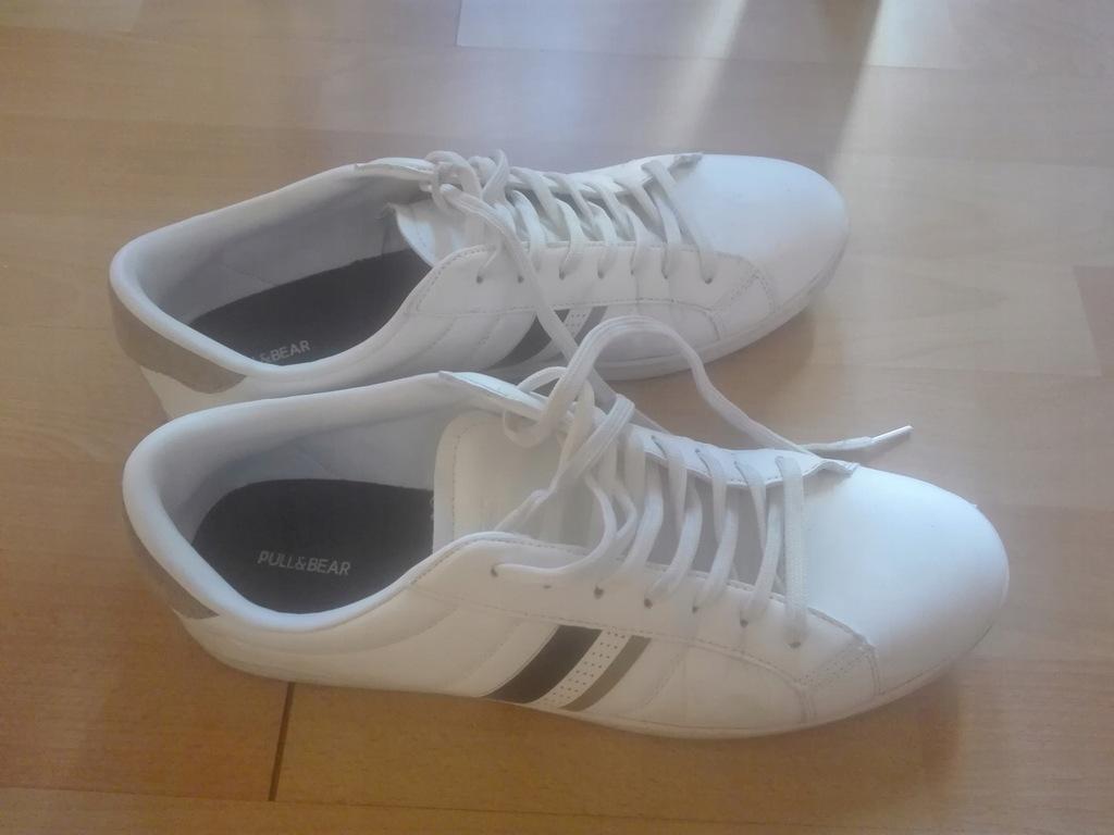 Buty białe sportowe Pull & Bear rozmiar 45 7483384477
