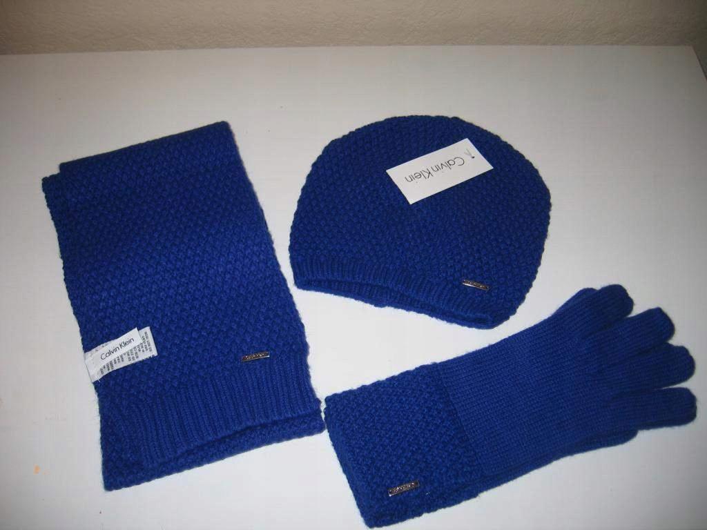 Komplet Calvin Klein czapka szalik rękawiczki