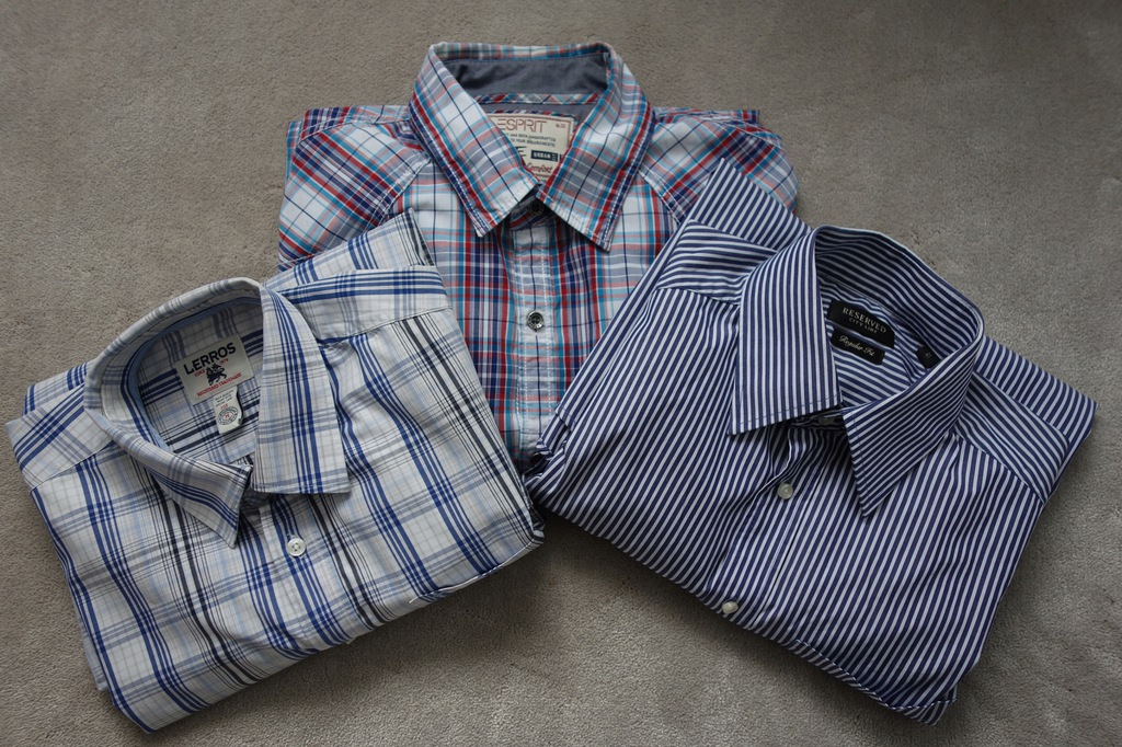3 firmowe Koszule męskie ESPRIT LERROS RESERVED M
