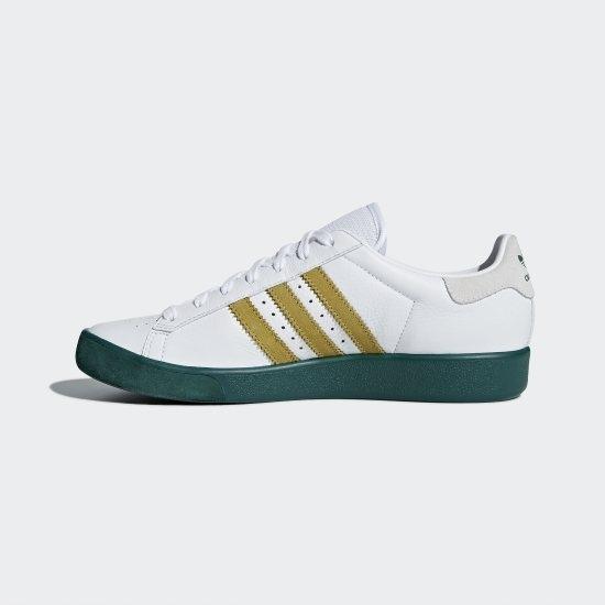 adidas Originals Forest Hills FTWR White, Metallic Gold & Collegiate Green
