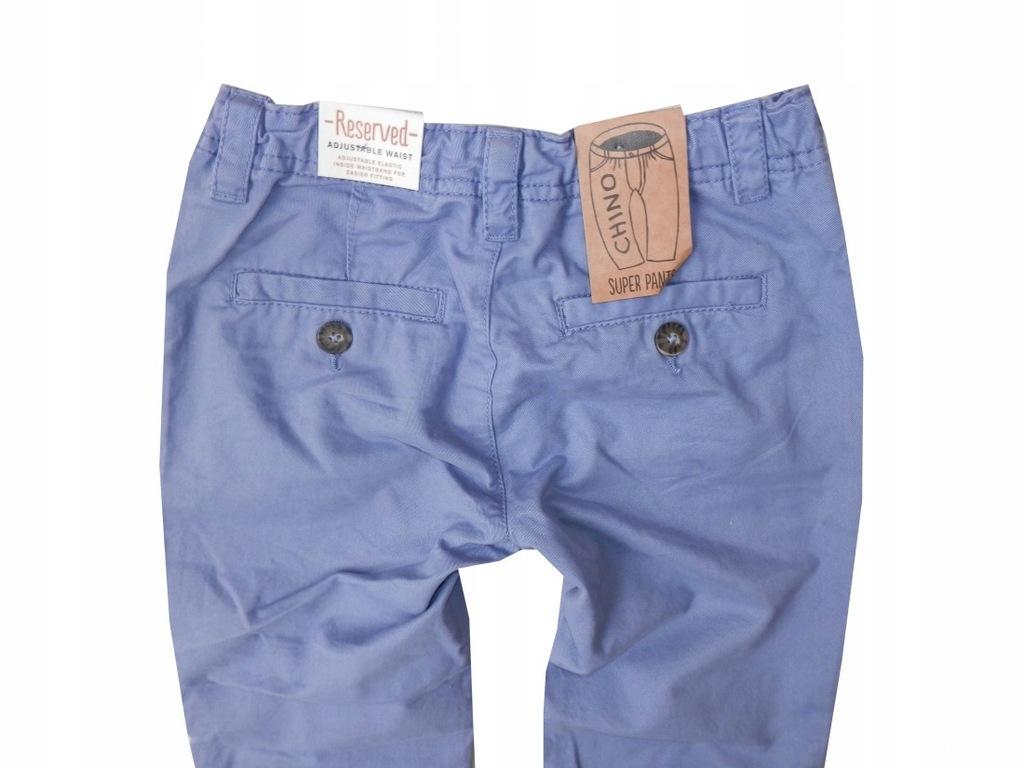 RESERVED niebieskie spodnie chłopięce, roz. 128