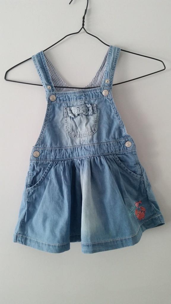 SMYK SUKIENKA ogrodniczka a'la jeans 86cm używana