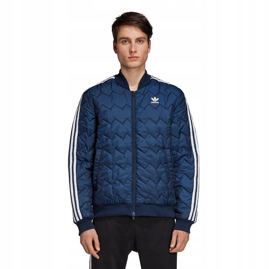 Kurtka Męska adidas Originals kieszenie niebiesk S