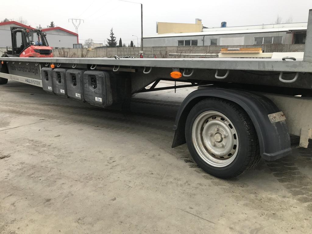 Przyczepa Boro 9x2,5m Obrotnica Platforma Dłużyca