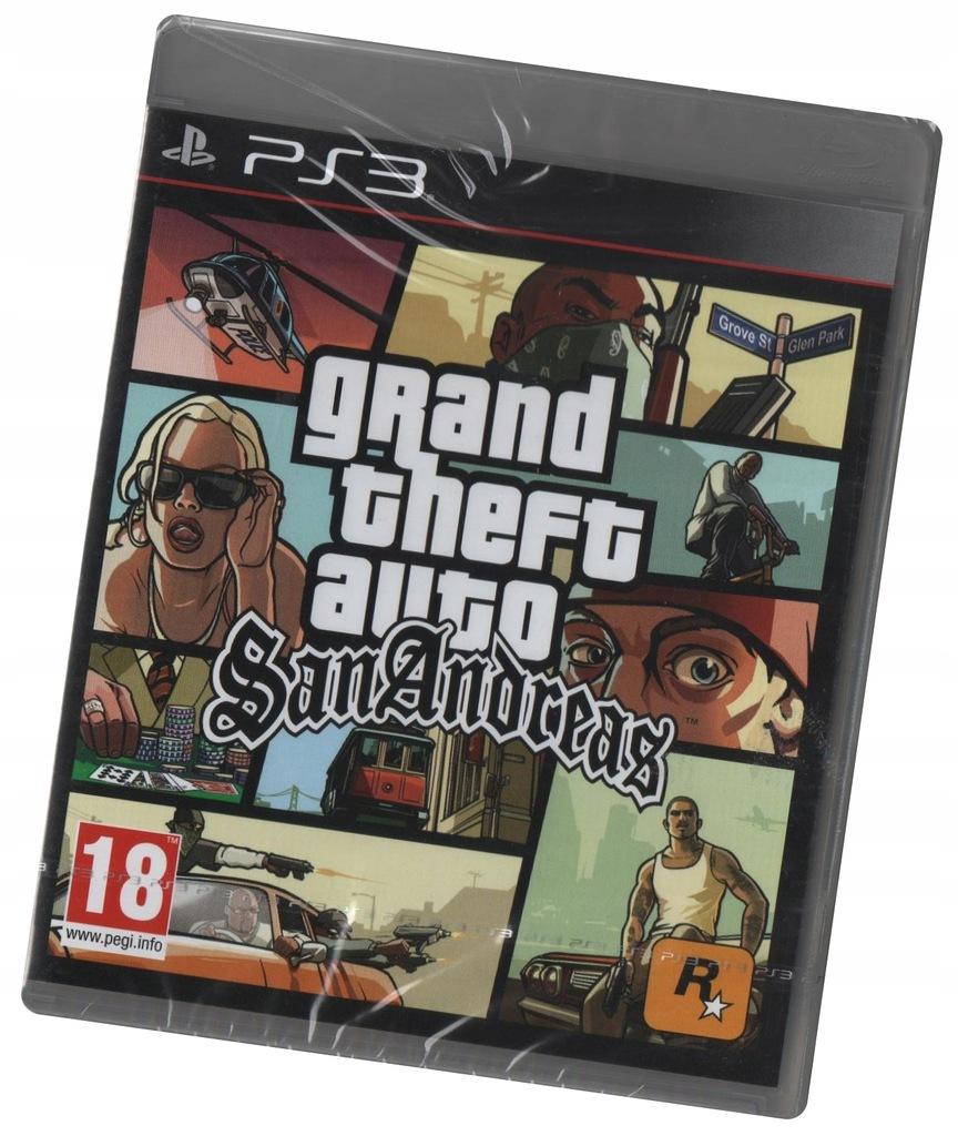 Gta Grand Theft Auto San Andreas Ps3 Nowa Z Plyta 7740050596 Oficjalne Archiwum Allegro