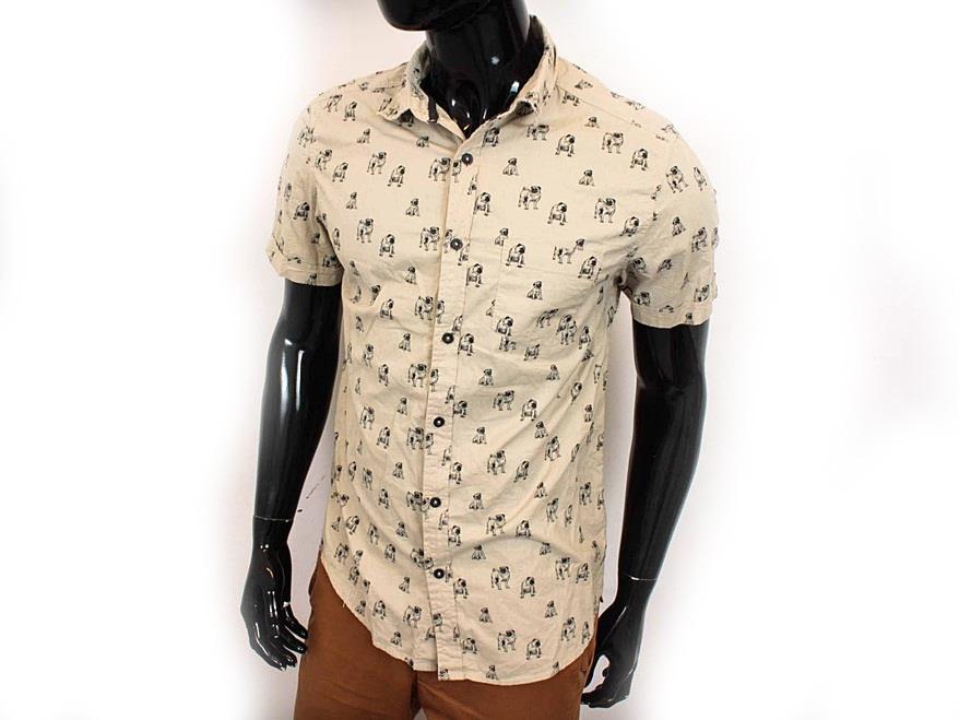 X New Look Koszula Męska Krótki Rękaw Wzorek r L