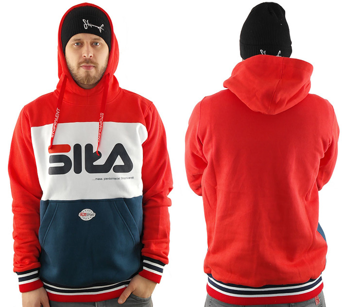 Bluza Stoprocent BMS Siła red navy blue